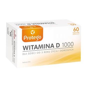 Protego Witamina D 1000 j.m, kapsułki elastyczne, 60 szt.