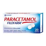 Paracetamol Filofarm, 500 mg, tabletki, 20 szt