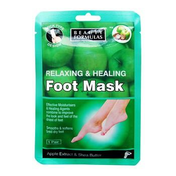 Beauty Formulas, relaksująco-odżywcza maska na stopy, 1 para (skarpetki)