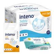 Nietrzymanie moczu zestaw INTENO (2x pieluchomajtki + podkład + chusteczki)
