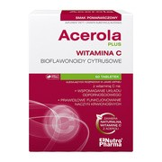 Acerola Plus, tabletki do ssania o smaku pomarańczowym, 60 szt.