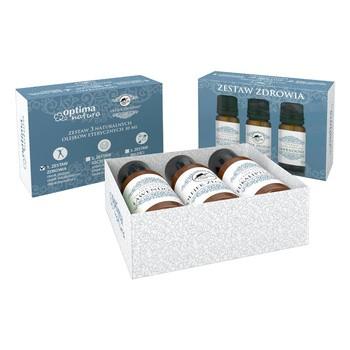 Zestaw Promocyjny Optima Natura Zdrowie, olejek Złodziei®, 10 ml + olejek lawendowy, 10 ml + olejek eukaliptusowy, 10 ml