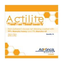 Actilite, opatrunek siatkowy z miodem Manuka, 10 x 10 cm, 10 szt.
