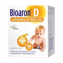 Bioaron D,  400 j.m., witamina D, krople wyciskane z kapsułki, 90 szt.