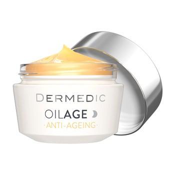 Dermedic Oilage, naprawczy krem na noc przywracający gęstość skóry, 50 g