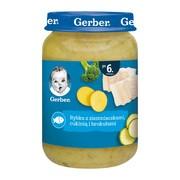 Gerber, Rybka z ziemniaczkami, cukinią i brokułami, 6 m+, 190 g