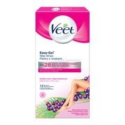 Veet Easy-Gel, plastry z woskiem, skóra normalna, 12 szt.