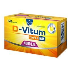 D-Vitum Forte Max 4000 j.m, kapsułki,120 szt.