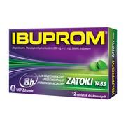 Ibuprom Zatoki Tabs, 200 mg + 6,1 mg, tabletki drażowane, 12 szt.