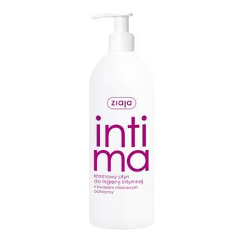 Ziaja Intima, kremowy płyn do higieny intymnej z kwasem mlekowym, 500 ml