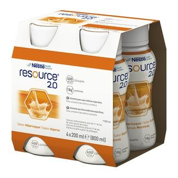 Resource 2.0, płyn o smaku morelowym, 4 x 200 ml