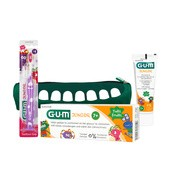 Zestaw Promocyjny Sunstar Gum Monster Junior: szczoteczka, pasta do zębów i piórnik