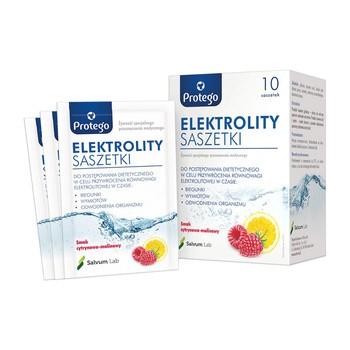Protego Elektrolity, proszek do sporządzania doustnego płynu nawadniającego, 10 saszetek po 4,4 g