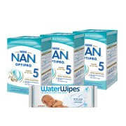 Zestaw 3x Nan Optipro 5 Junior + 1x chusteczki WaterWipes