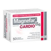 Magnefar B6 Cardio, tabletki powlekane, 50 szt.
