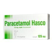 Paracetamol Hasco, 125 mg, czopki, 10 szt.
