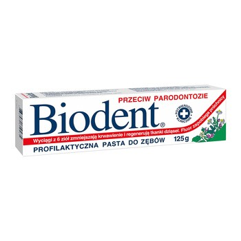 Biodent, pasta do zębów przeciw paradontozie, 75g