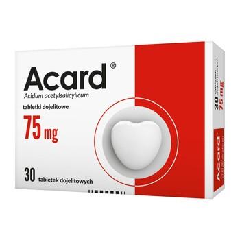 Acard, 75 mg, tabletki dojelitowe, 30 szt.