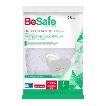 BeSafe, maska, ochronna, FFP2 NR, 1 szt.