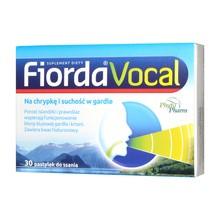 Fiorda Vocal, pastylki do ssania, 30 szt.