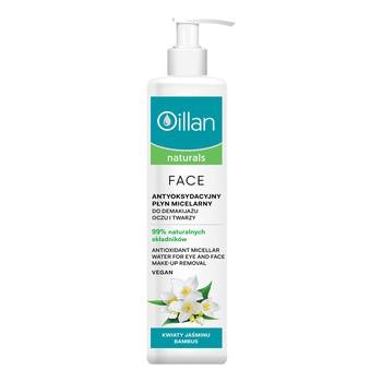 Oillan Naturals Face, antyoksydacyjny płyn micelarny do demakijażu oczu i twarzy, 250ml