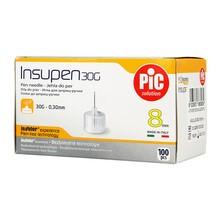 Insupen, igły do wstrzykiwań insuliny, 30G x 8 mm, 100 szt.