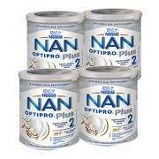 Zestaw 4x Nestle Nan Optipro Plus 2 HM-O, mleko następne dla niemowląt po 6 miesiącu, 800 g