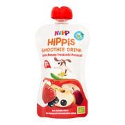 HiPP HiPPiS BIO Smoothie Drink, jabłko, banan, truskawka, porzeczka, po 1. roku życia, 120 ml