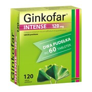 Ginkofar Intense, 120 mg, tabletki powlekane, 120 szt. (2 x 60 szt.)