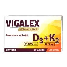 Vigalex D3+K2, tabletki, 60 szt. (30 szt. + 30 szt. GRATIS)