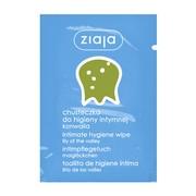 Ziaja Intima, chusteczka do higieny intymnej konwalia, 7 ml (saszetka)