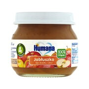 Humana 100% Organic jabłuszko, bez dodatku cukru, 4 m+, 80 g