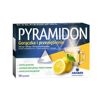Pyramidon, 500 mg+300 mg+200 mg, proszek musujący w saszetkach, 10 szt.