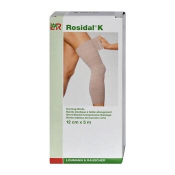 Opaska elastyczna, Rosidal K, mała rozciągliwość, 5 m x 12 cm, 1 szt.