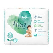 Pampers Pure Protection, 3, (6-10kg), 31 szt