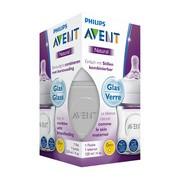Avent Natural, szklana butelka dla niemowląt, 120 ml, 0m+, 1 szt.