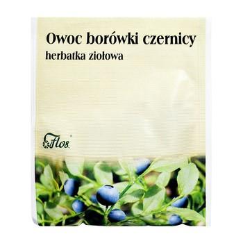 Owoc borówki czernicy, zioło pojedyncze, 50 g (Flos)