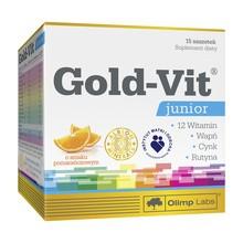 Olimp Gold-Vit Junior, proszek w saszetkach, smak pomarańczowy, 15 szt.