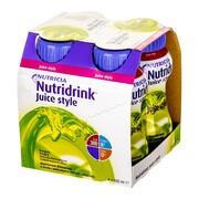 Nutridrink Juice style, preparat odżywczy o smaku jabłkowym, 4 x 200 ml