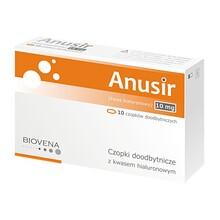 Anusir, czopki doodbytnicze z kwasem hialuronowym, 10 szt.