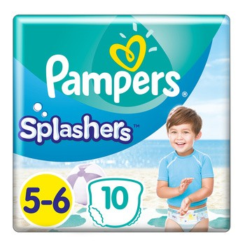 Pampers Splashers 5-6, pieluszki do pływania i na plażę, (14+ kg), 10 szt.