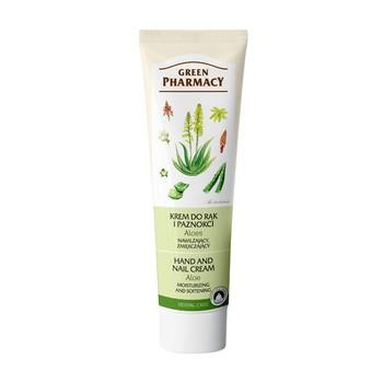 Green Pharmacy, nawilżający, zmiękczający krem do rąk i paznokci, aloes, 100 ml
