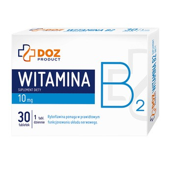 DOZ PRODUCT Witamina B2, tabletki powlekane, 30 szt.