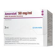 Amorolak, 50 mg/ml, lakier do paznokci leczniczy, 3 ml (1 butelka)