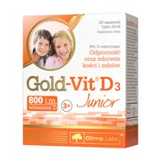 Olimp Gold-Vit D3 Junior, proszek w saszetkach, o smaku malinowym, 30 szt.