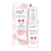 FlosLek, Rose for skin, różane serum witaminowe, 3w1, 30 ml