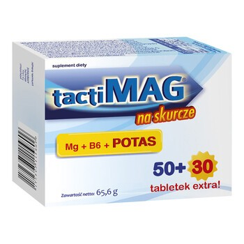 TactiMag na skurcze, tabletki powlekane, 80 szt.