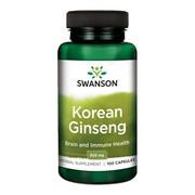 Swanson Żeń-szeń koreański, 500 mg, kapsułki, 100 szt.
