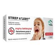 STREP A'LERT, test z wymazu z gardła do wykrywania anginy bakteryjnej, 1 zestaw