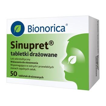 Sinupret, tabletki drażowane, 50 szt.